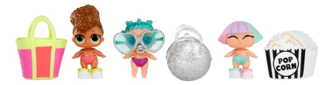 Купить Конфетти. Сестрёнки в шарике, Кукла-сюрприз L.O.L. Конфетти сестрёнки в шарике 7 см, LOL Surprise, Куклы LOL