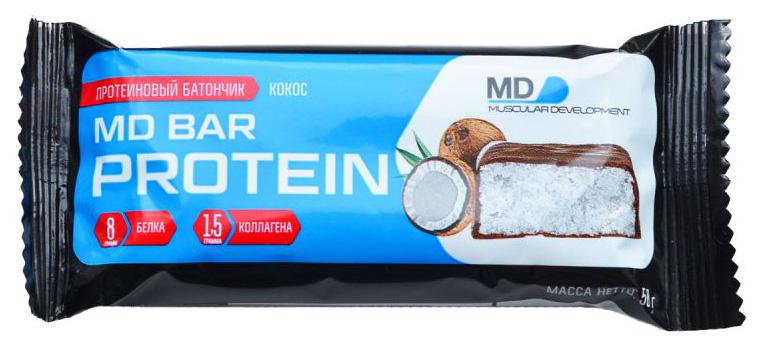 Протеиновый батончик MD Bar Protein 50 г кокос