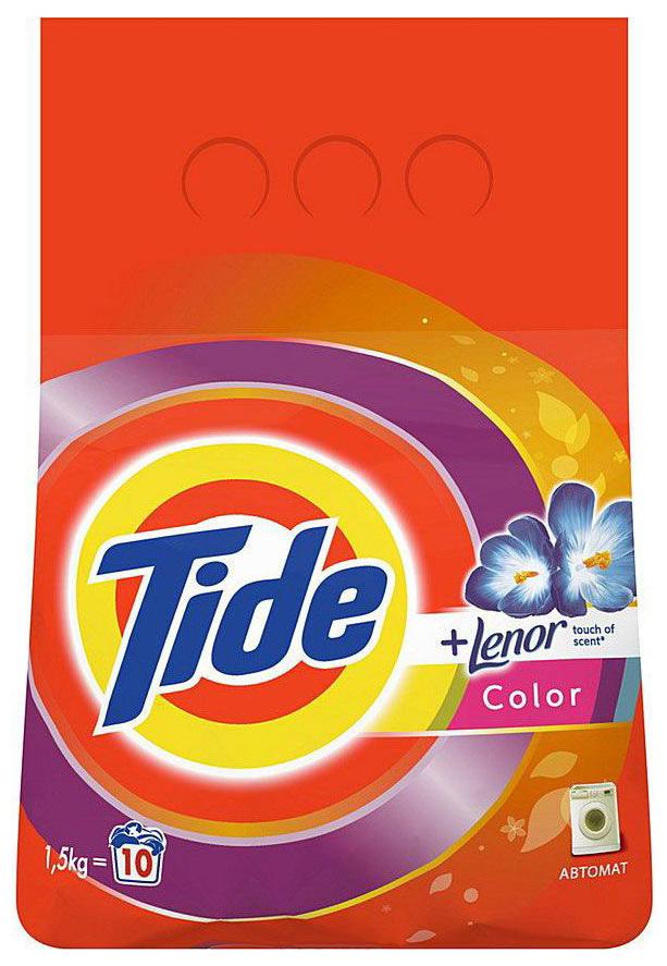 Стиральный порошок Tide lenor touch of scent автомат 1.5 кг