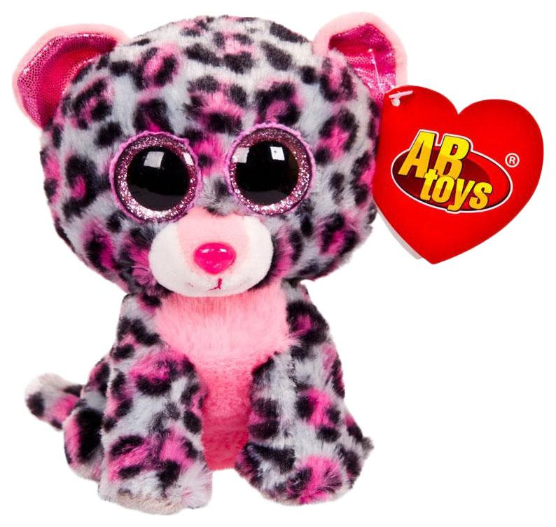 Купить Мягкая игрушка ABtoys Леопард серый, 15 см, Мягкие игрушки животные