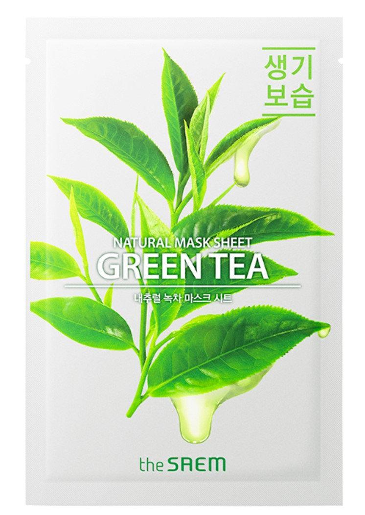 Купить Маска тканевая THE SAEM с экстрактом зеленого чая Natural Green Tea Mask Sheet 21мл