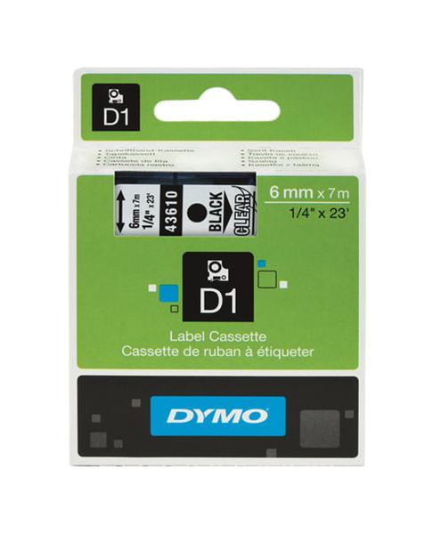 Картридж с лентой Dymo D1, черный