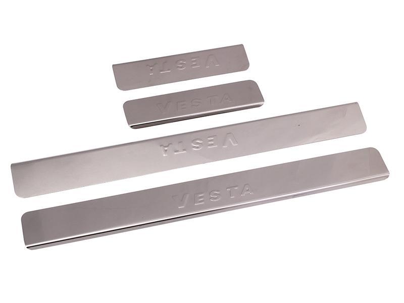 Накладки на пороги Lada Vesta седан Dollex