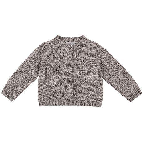 Купить 9096924, Кардиган Chicco для девочек р.74 цв.темно-бежевый, Кофточки, футболки для новорожденных