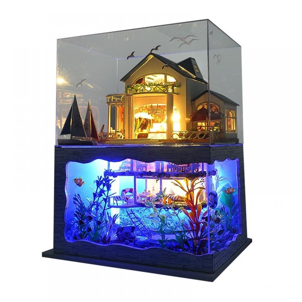 Купить Кукольный дом DIY RoomBoCom Impression Hawaii интерьерный домик DIYRB-TC4, Деревянные конструкторы