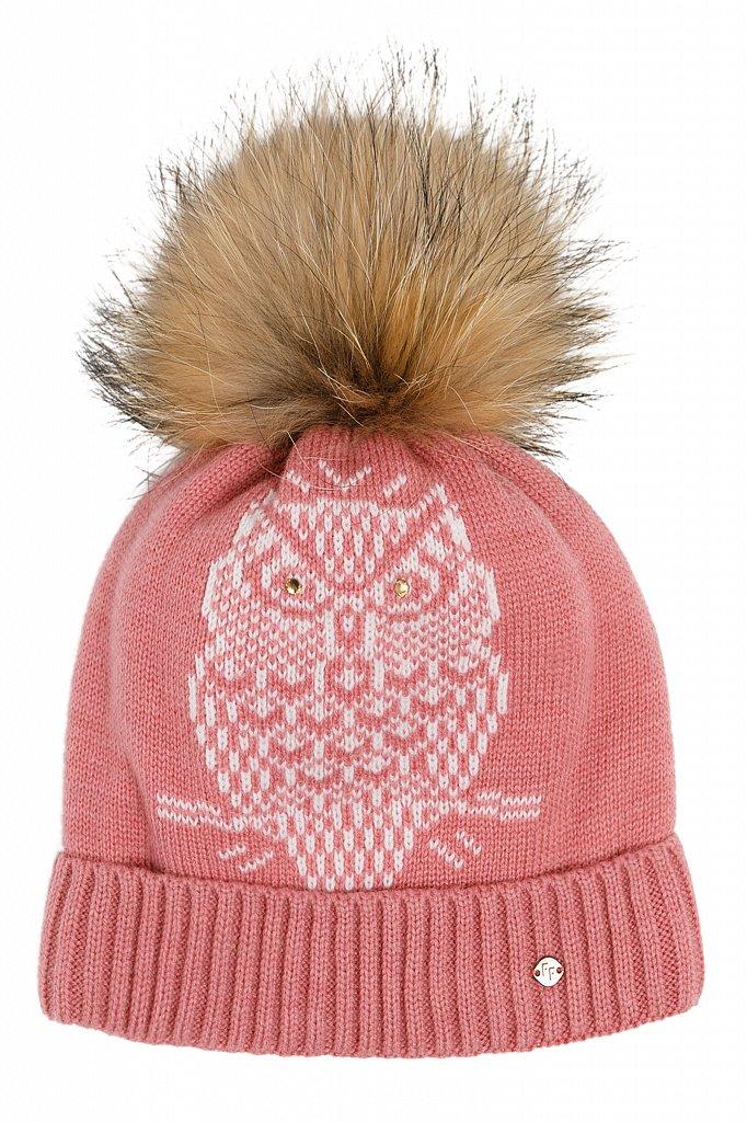 Купить KW19-71117, Шапка для девочки Finn Flare, цв. красный, р-р., Детские шапки и шарфы