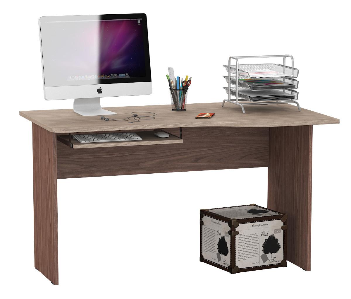 Компьютерный стол Мебельный Двор 1.04П, ясень шимо