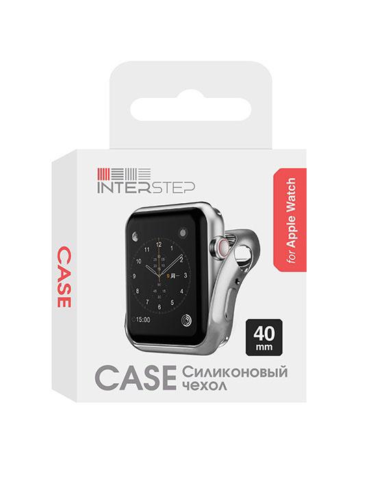 Чехол InterStep для Apple Watch 40mm Silver