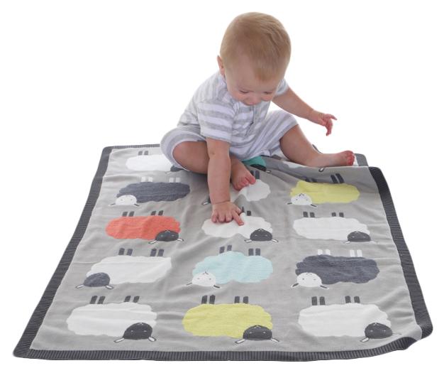 Купить Одеяло Bizzi Growin (Биззи Гровин) Flock вязаное 70*90 BG029, Одеяла для новорожденных