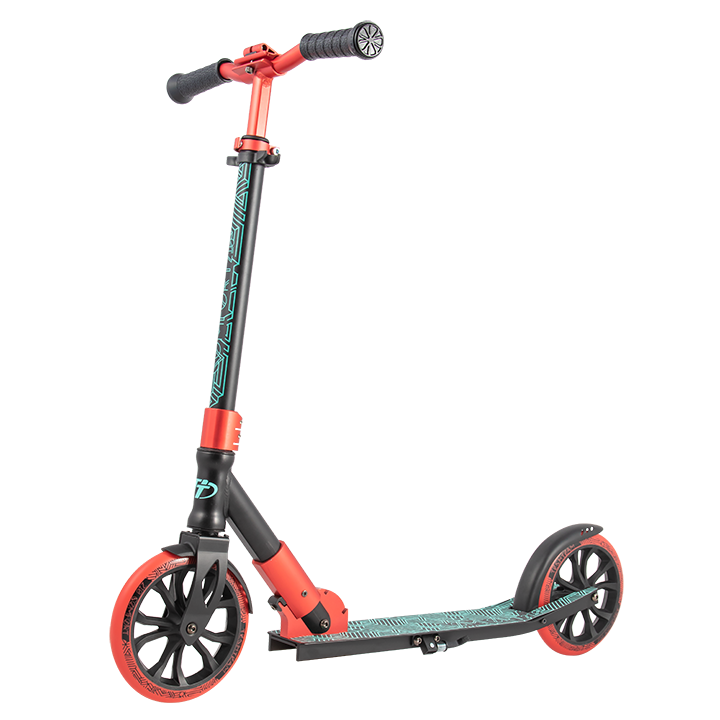 Купить Детский самокат Tech Team 210 Comfort 2020 черно-красный, Самокаты детские двухколесные