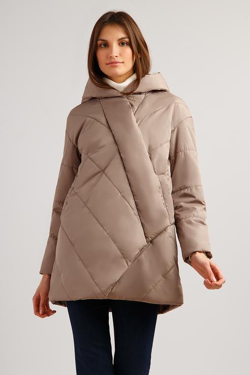 Куртка женская Finn Flare B19-11077 коричневая L фото