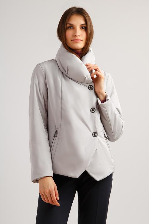 Куртка женская Finn Flare B19-11016 серебристая XS фото
