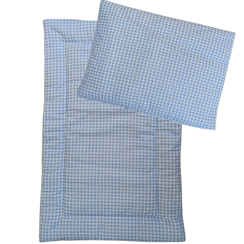 Набор в коляску Папитто подушка и матрасик голубой