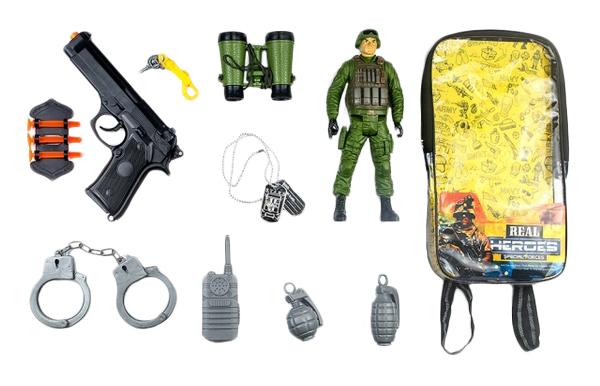 Игровой Набор Junfa Toys Военный Wg-A7092 В Рюкзачке 11 Предметов