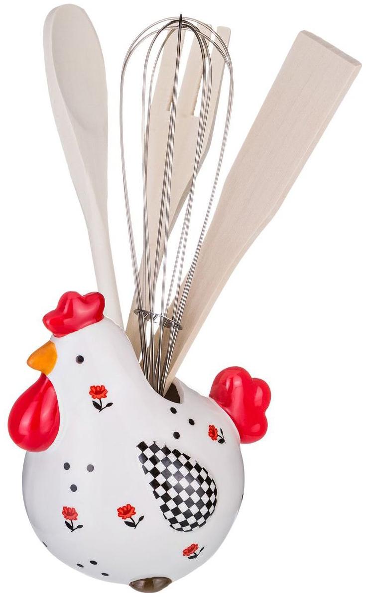 Подставка для столовых приборов Lefard Веселый курятник