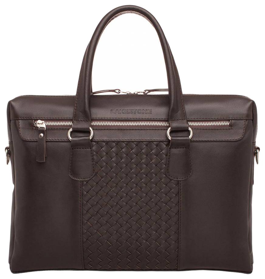 Портфель мужской кожаный Lakestone Bramley коричневый фото