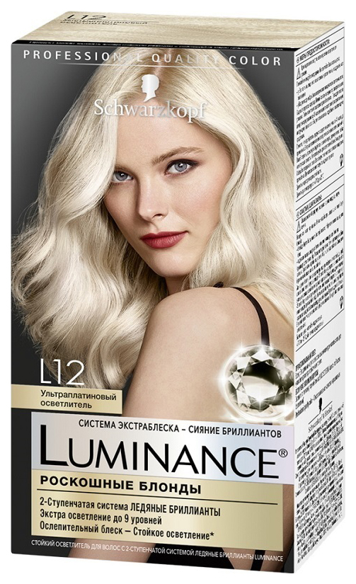 Краска для волос Schwarzkopf Luminance Color тон L12 Ультра платиновый осветлитель 165 мл