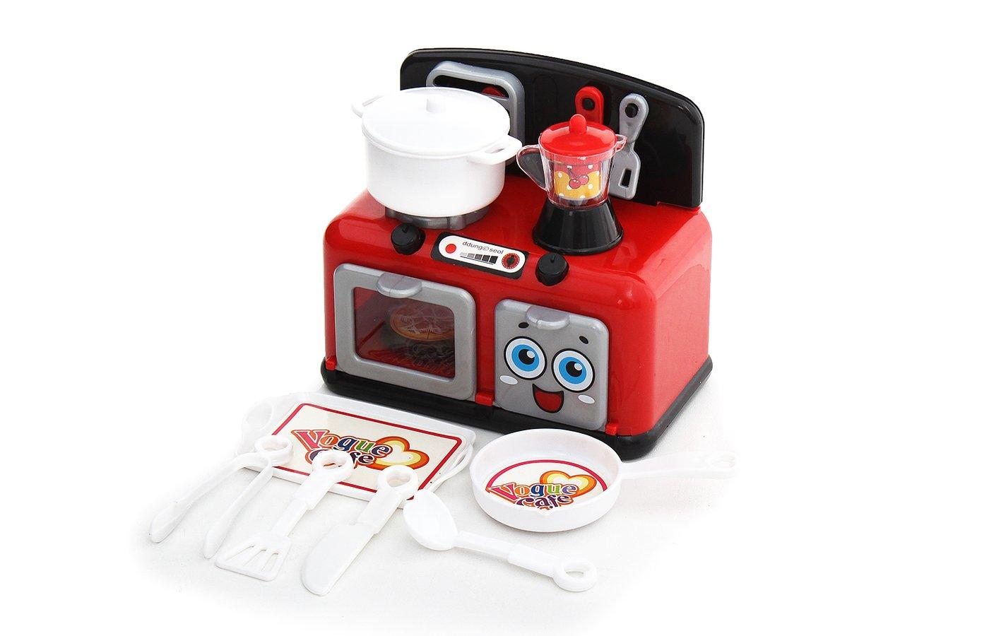 Игровой набор fudaer кухонная плита с аксессуарами