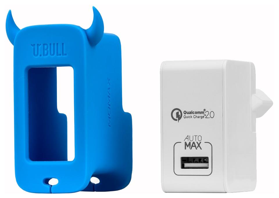 Сетевое зарядное устройство MoMax U.Bull 1 USB 2,4A Blue фото