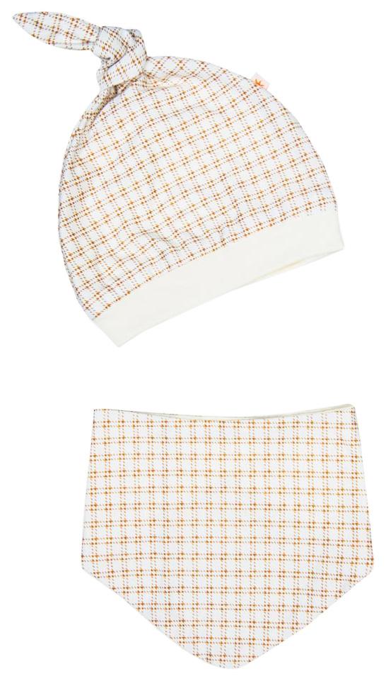 Купить Комплект одежды Сонный Гномик ТриКотаЖ клетка бежевый, Сонный гномик, Комплекты для новорожденных