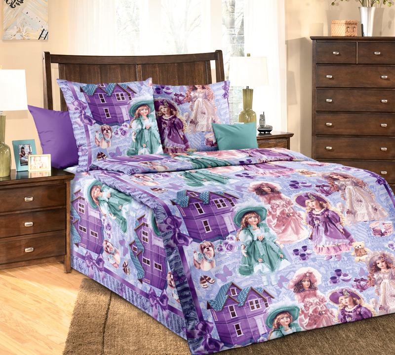 Купить Куклы 1, 5 спальный, Комплект постельного белья Куклы 1, 5-спальный, Текс-Дизайн,