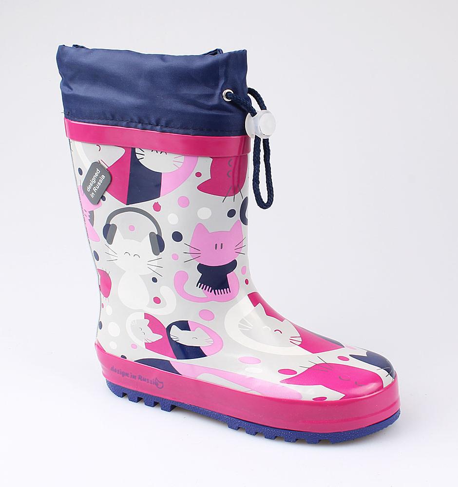 Резиновая обувь Котофей 566153-11 для девочек р.34