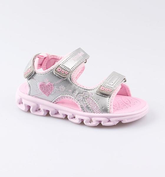 Пляжная обувь Котофей для девочки р.28 324017-11 серебристый