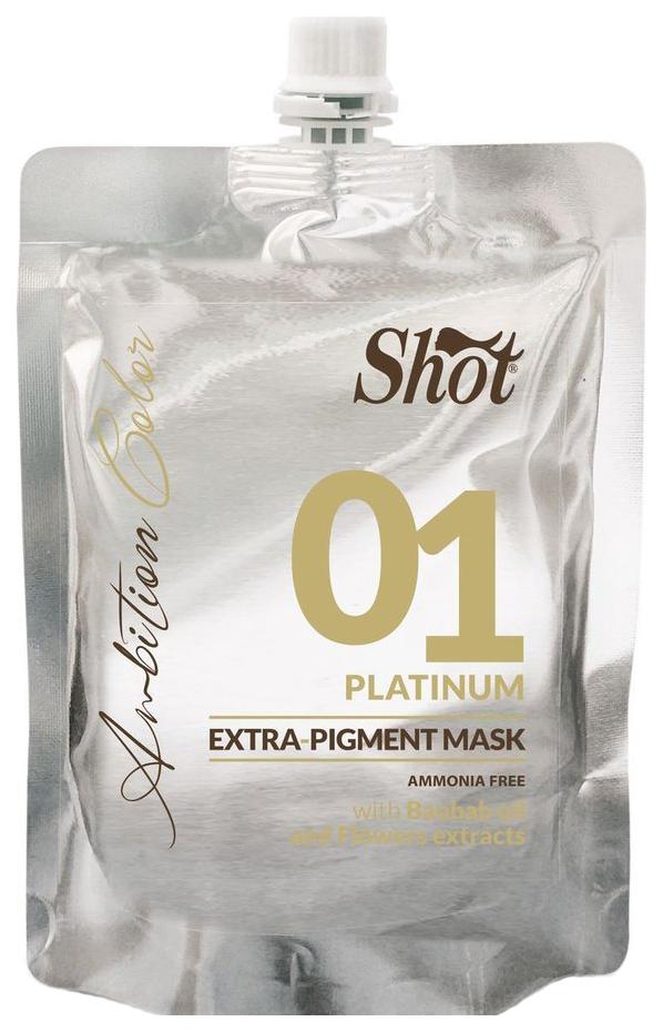 Маска для волос Shot Экстра Пигмент 01 Платиновый 200 мл