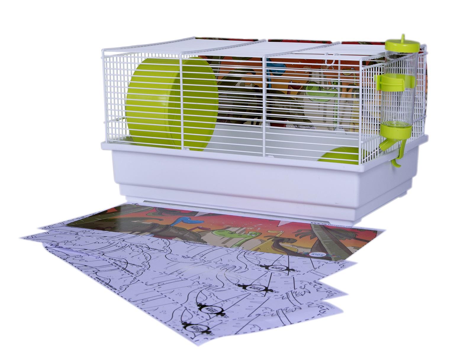 Клетка для крыс, морских свинок, мышей, хомяков Voltrega 25.5х22х39см