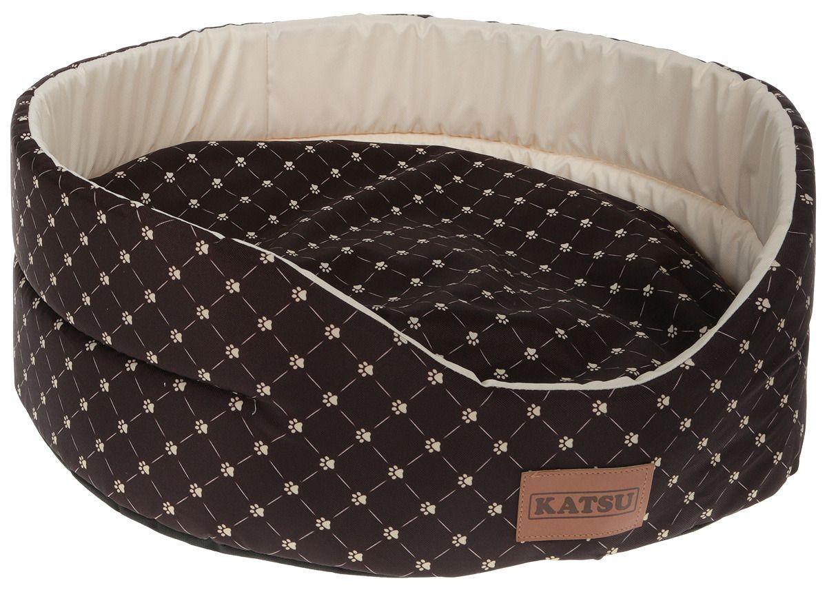 Лежак для кошек KATSU Yohanka shine Cat Paw коричнево-бежевый, размер 4 58х52х20см