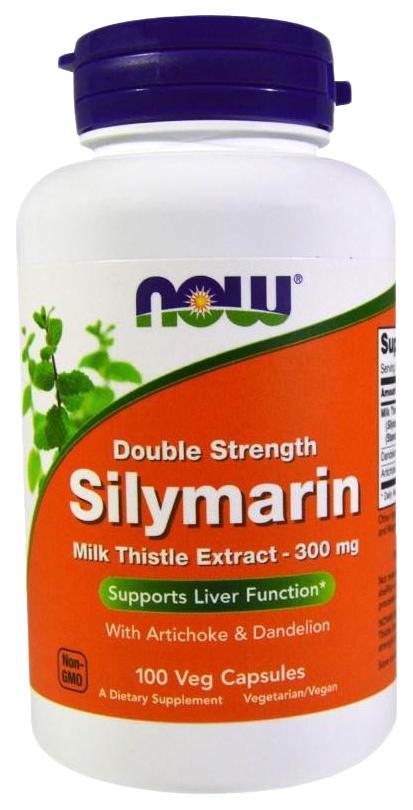 Купить Для печени NOW Silymarin Milk Thisle 300 мг 100 капсул