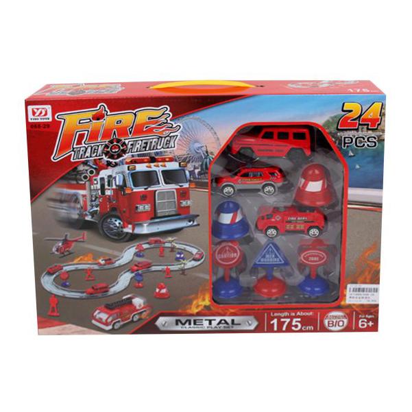 Купить Автотрек Наша игрушка электрифицированный Пожарный 068-29, Детские автотреки