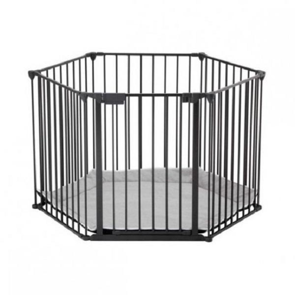 Safe&care манеж-трансформер 6 элементов черный