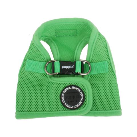 Шлейка для собак Puppia Soft Vest, зеленая, размер S