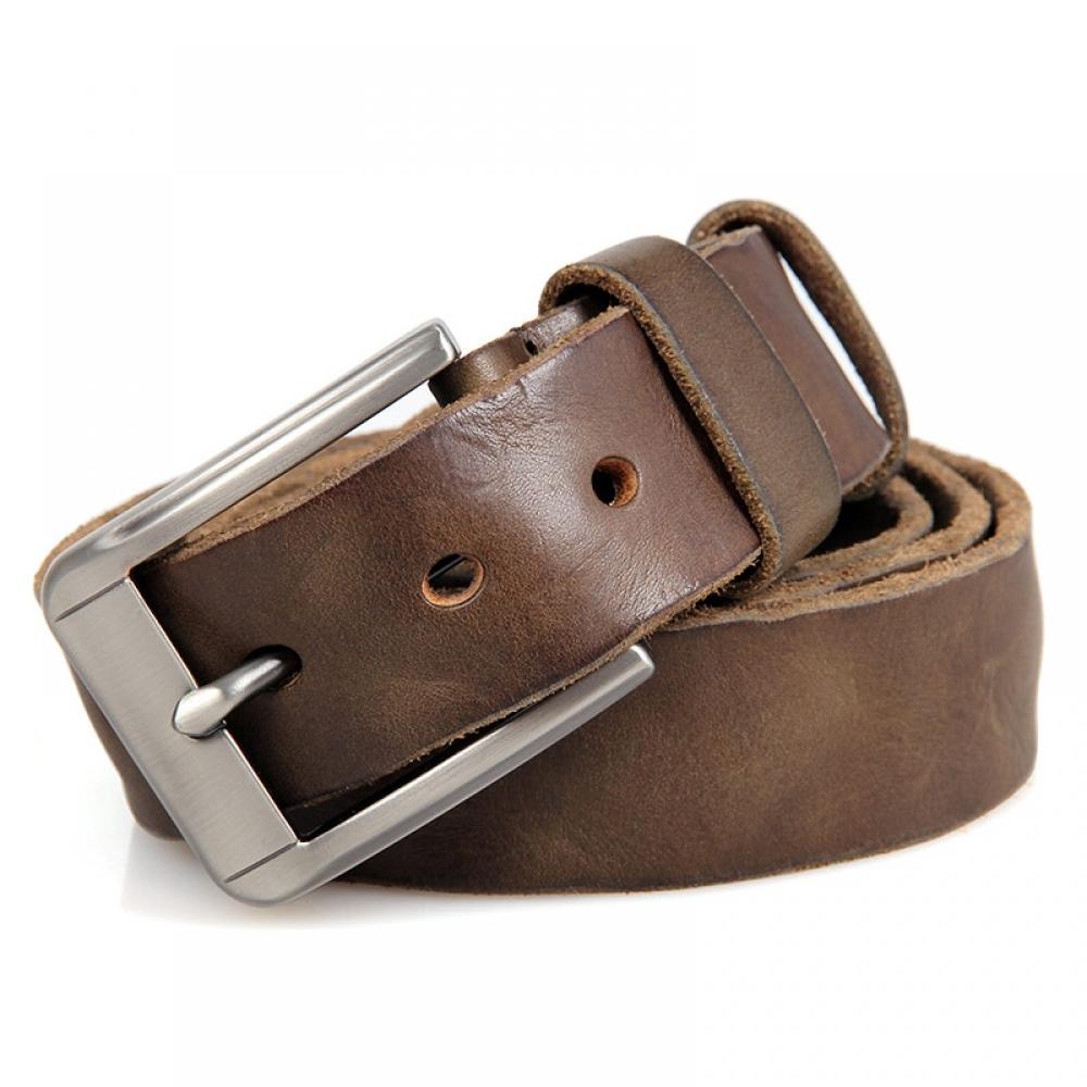 Ремень мужской Кошелькофф V005 коричневый 135 см