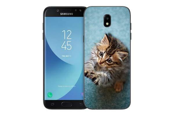 Чехол Gosso Cases для Samsung Galaxy J5 (2017) J530 «Котёнок на голубом»