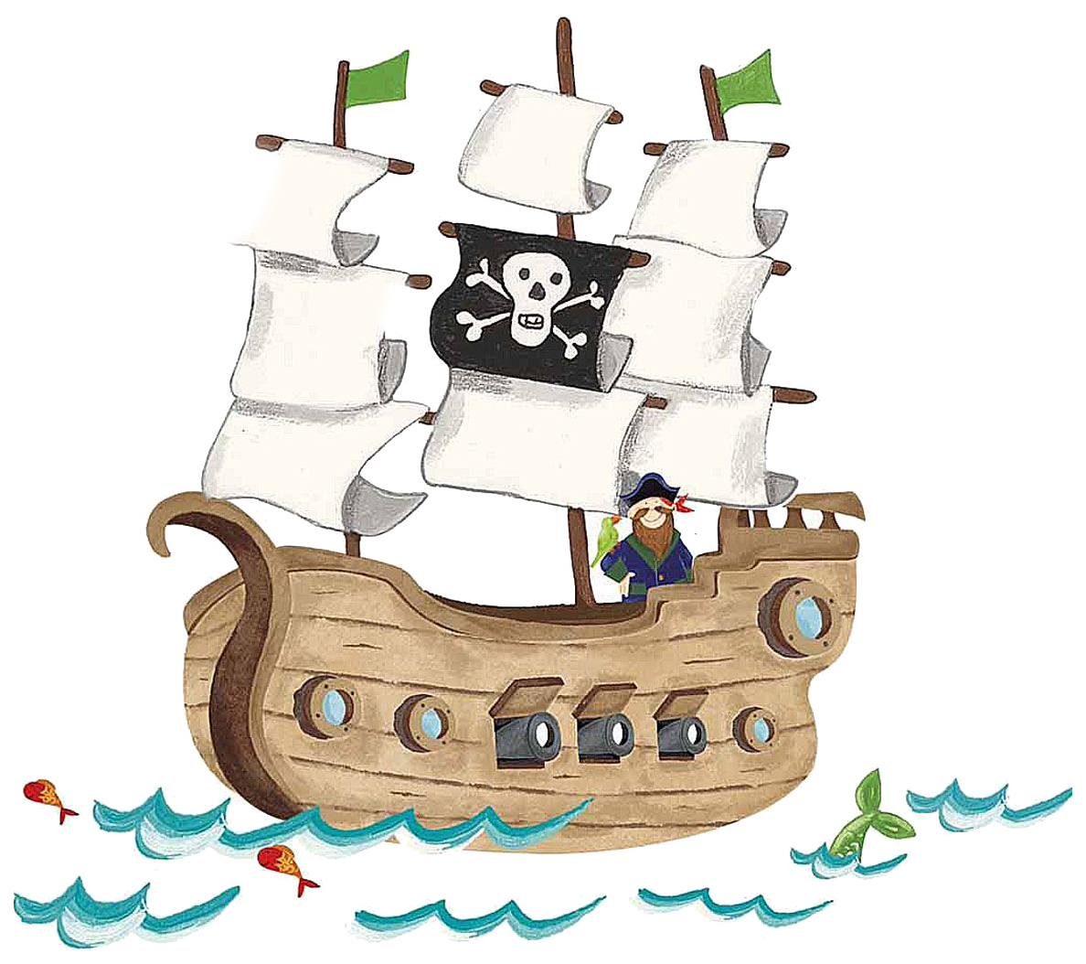 Купить Наклейки Roommates Пиратский корабль RMK2042SLM,