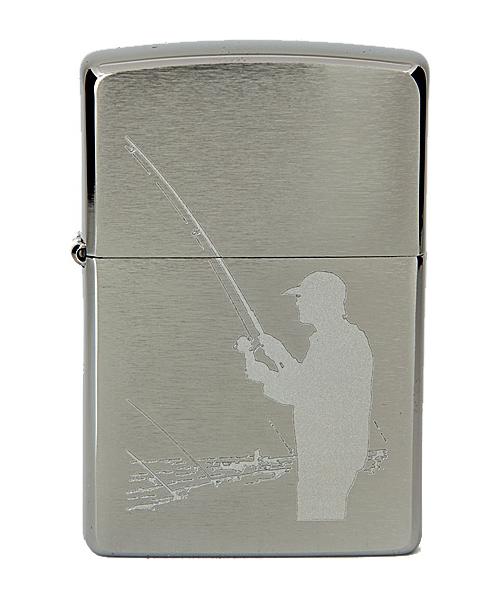 Зажигалка Zippo №200 Fisherman Brushed Chrome