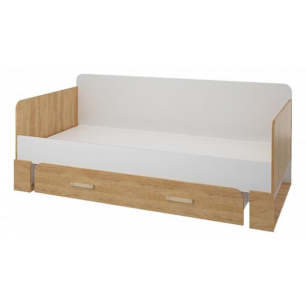 Кровать СтолЛайн Венето СТЛ.266.16 90х190 см, коричневый/белый