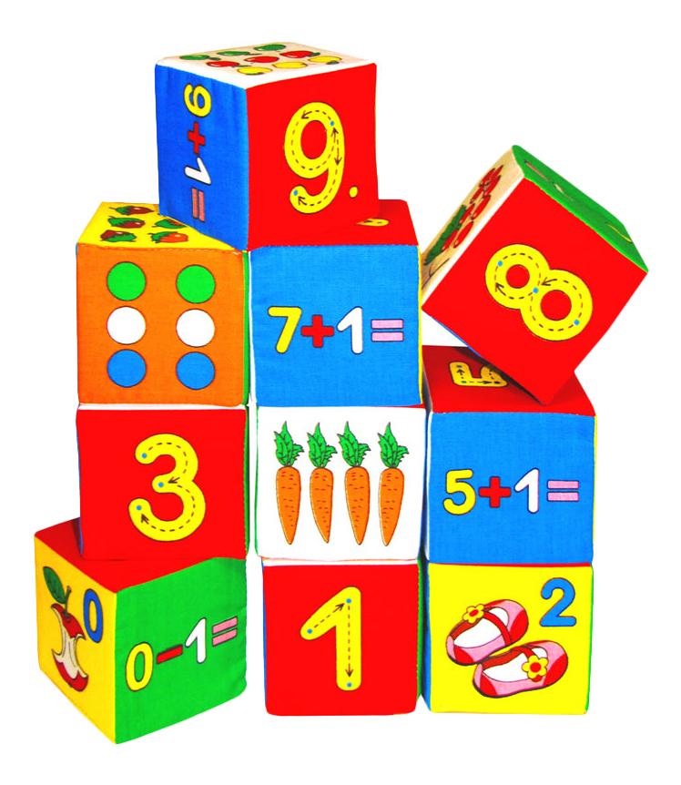 Купить Детские кубики Мякиши Кубики Умная математика 177, Развивающие кубики