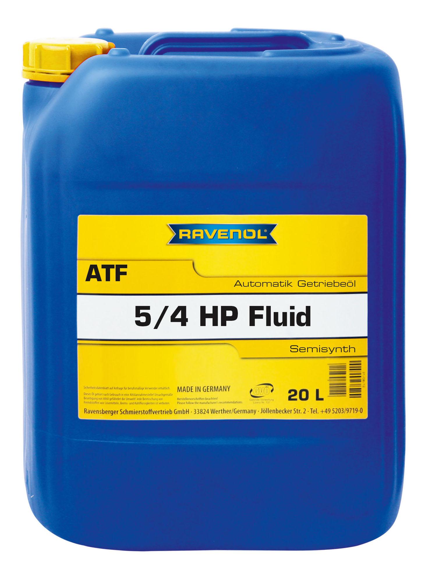 Трансмиссионное масло RAVENOL ATF 5/4 HP 20л 1212104-020-01-999 фото