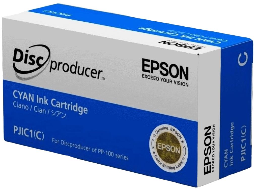 Картридж для струйного принтера Epson C13S020447, голубой, оригинал фото