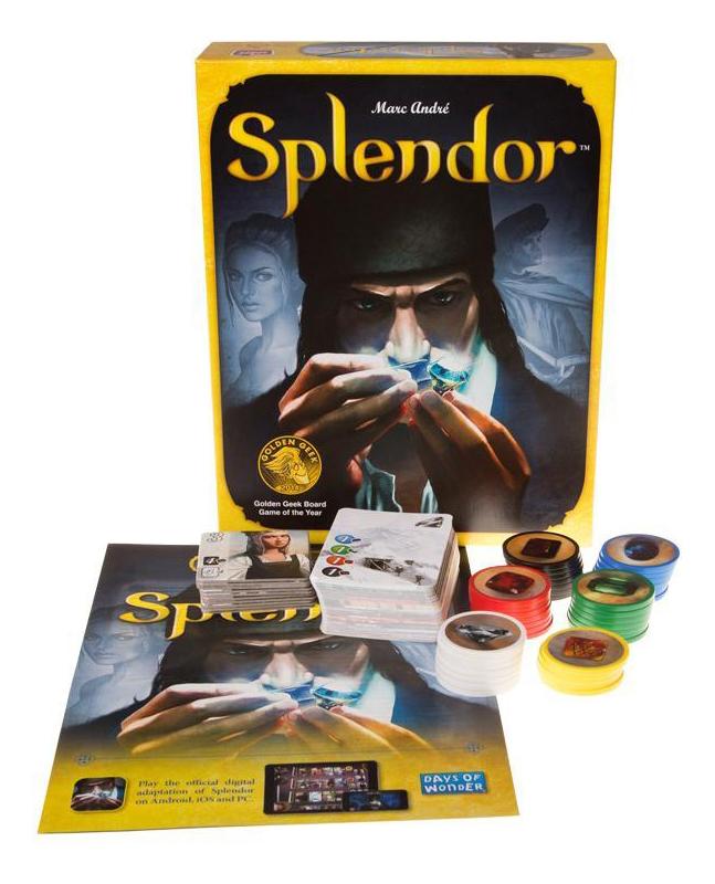 Купить Настольная игра Splendor (Роскошь), Asmodee, Экономические настольные игры