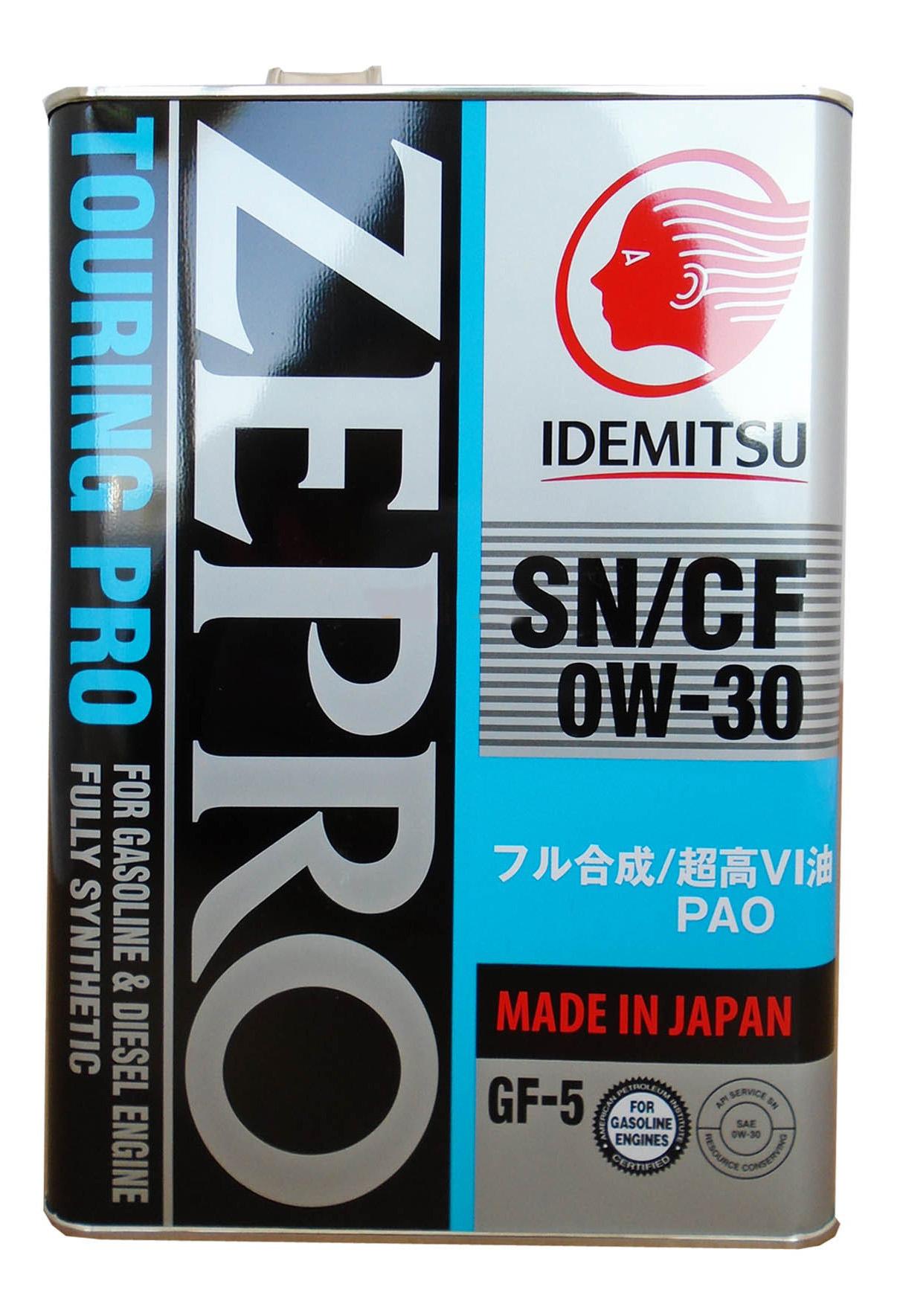 Моторное масло Idemitsu Zepro Touring Pro 0W-30 4л