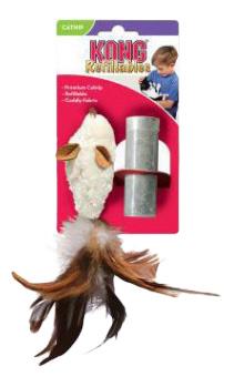 Мягкая игрушка для кошек KONG, Плюш, Натуральные перья, 6,8 х 4,0 х 2,3 см