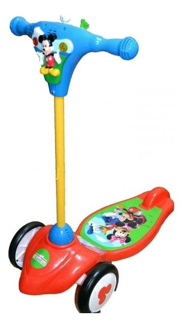 Самокат трехколесный KiddieLand Микки KID 048512 красный фото