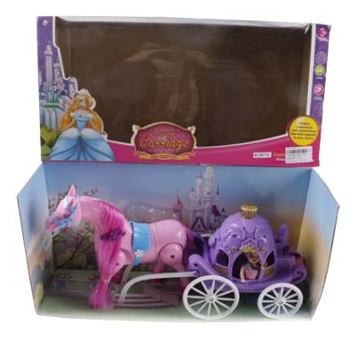 Игровой набор Shantou Carriage кукла в карете с лошадью фото