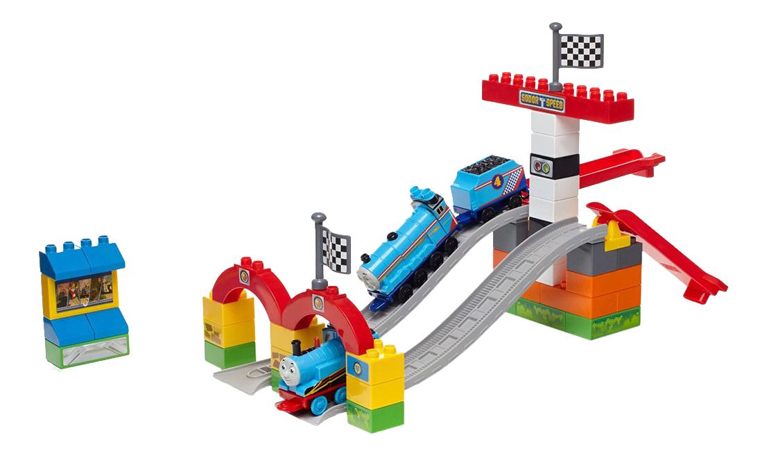 Конструктор пластиковый Mattel inc Mega Bloks Большая гонка Томаса фото