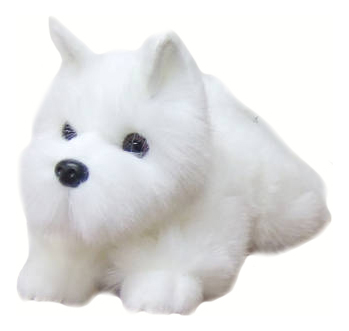 Мягкая игрушка SOYA Щенок породы белый терьер, 20x9x11 см