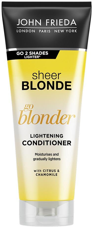 Купить Кондиционер для волос John Freida Sheer Blonde Go Blonder 250 мл, go Blonder Кондиционер осветляющий для натуральных, мелированных и окрашенных волос 250 мл, John Frieda
